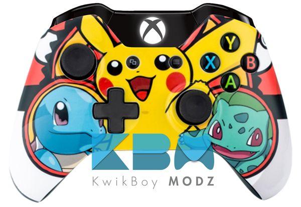 Custom Pokemon Xbox One Controller  #pokemon #pokemongo #xboxone #xboxonecontroller #customcontroller #kwikboymodz #ps4