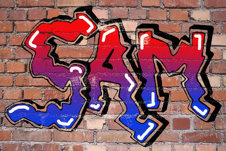 Graffiti Tag on Photoshop (Miss Allen's 2012/13 Year 7 Class)