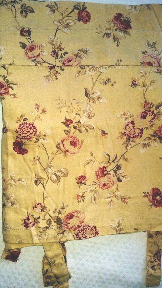 "Waverly Valance Sonata floral rose on yellow/gold 17"" x 96""  Harbor House #Waverly #Cottage"