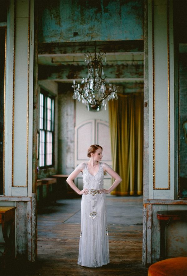 Jenny Packham Wedding Gown In The Metropolitan Building Photo Redfield