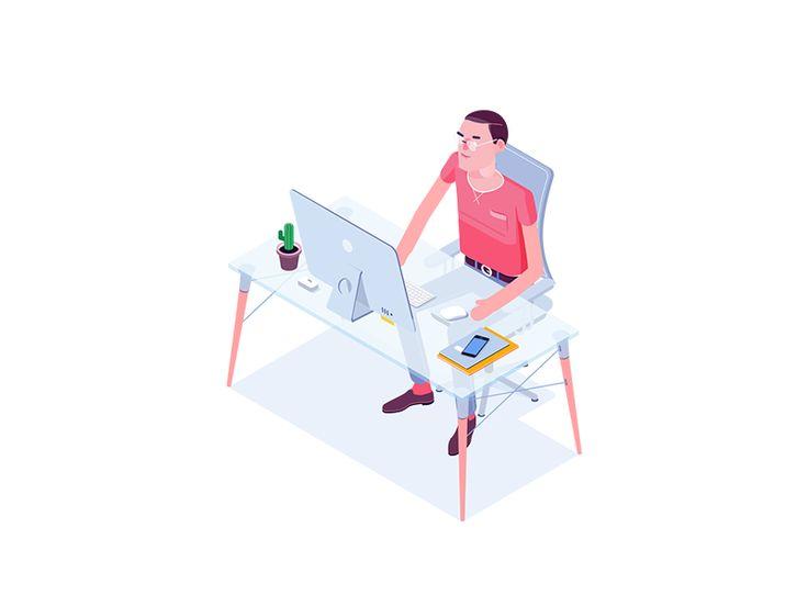 Office man by Igor Kozak #Design Popular #Dribbble #shots