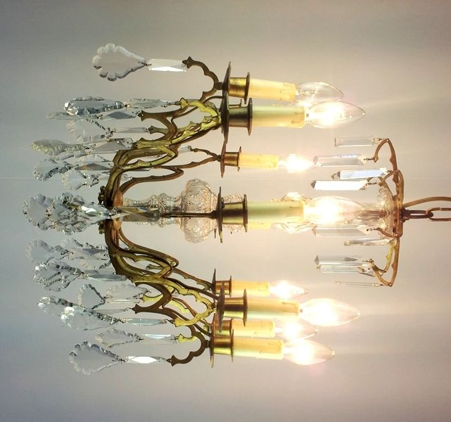 Direct from France, one of many original Chandeliers we buy direct from France every year