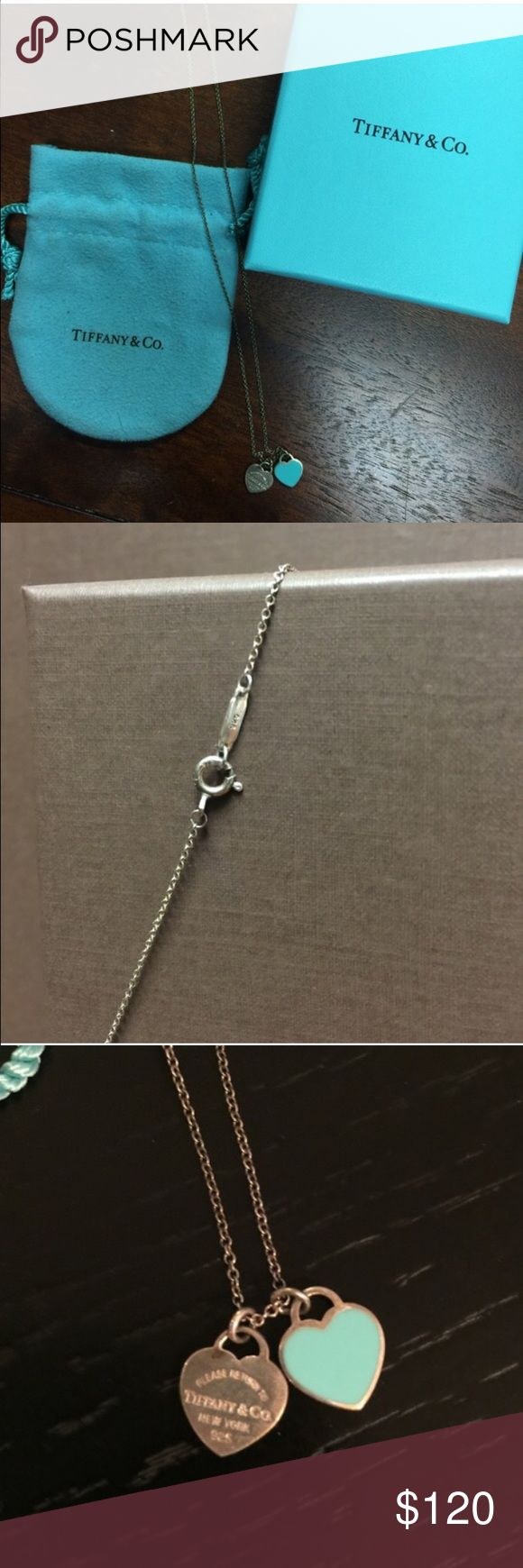 """Tiffany's Heart Necklace 16"""" Tiffany's Heart Necklace 16"""" 100% Authentic. Tiffany & Co. Jewelry Necklaces"""