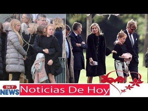 Los Reyes de Holanda y sus tres hijas dan su último adiós a Jorge Zorreguieta | Noticias de hoy - YouTube