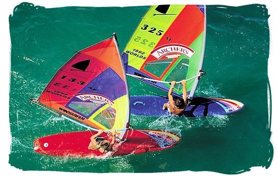 Windsurfing is a popular sport in South Africa - South Africa Sports Top Ten South African Sports