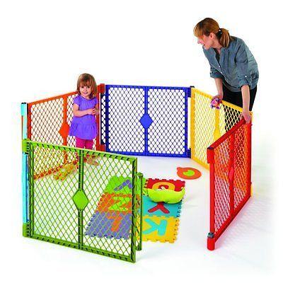 North States Color Superyard Baby/Pet Gate & Portable Play Yard - 6 Panel