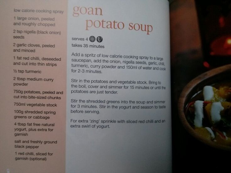 Goan potato soup from Slimming World's little book of soup ...