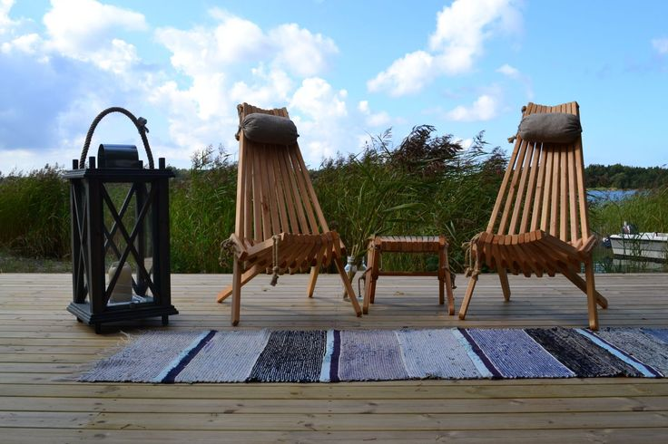 Summer and the sea - NorDeck chairs are made for daydreaming and listening to the waves.