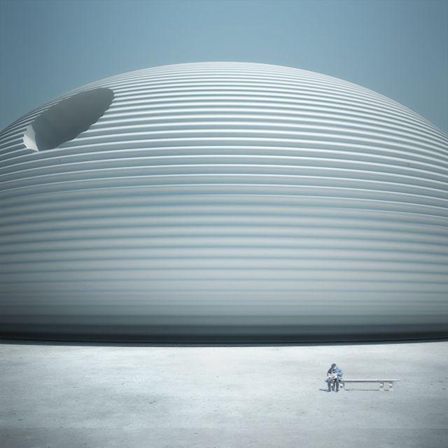 Architecture exterior design Le Manoosh, Futuristic Architecture