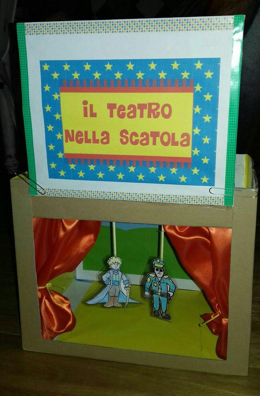 Giochi per bambini/teatro marionette diy/il teatro nella scatola