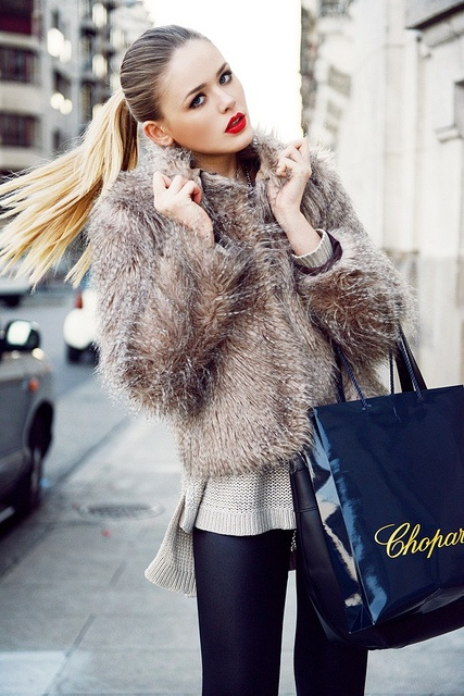 love the fur jacket and make up