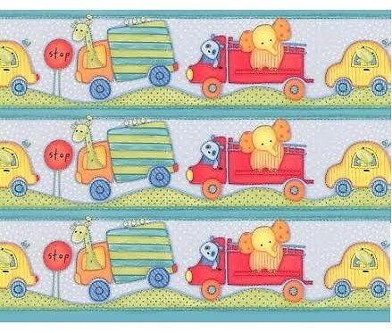 cenefa infantil transportes