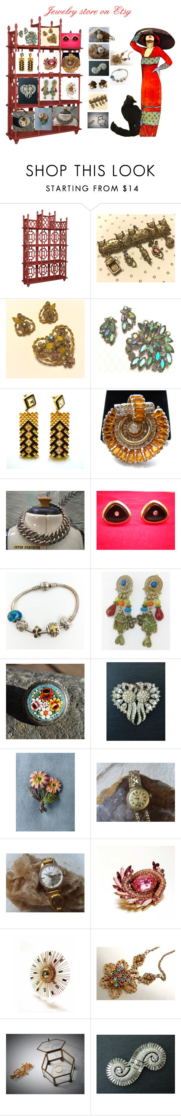 Vintage Jewelry on Etsy! by luckystanlv on Polyvore featuring CORO and vintage