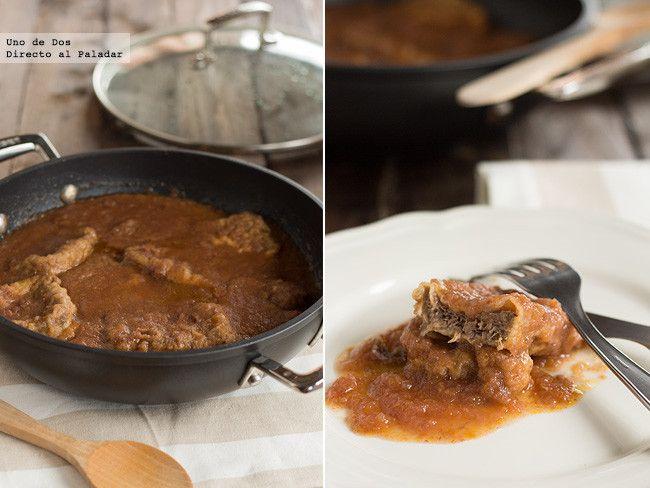 Lengua de ternera en salsa. Receta paso a paso http://www.directoalpaladar.com/recetas-de-carnes-y-aves/lengua-de-ternera-en-salsa-receta