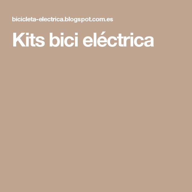 Kits bici eléctrica