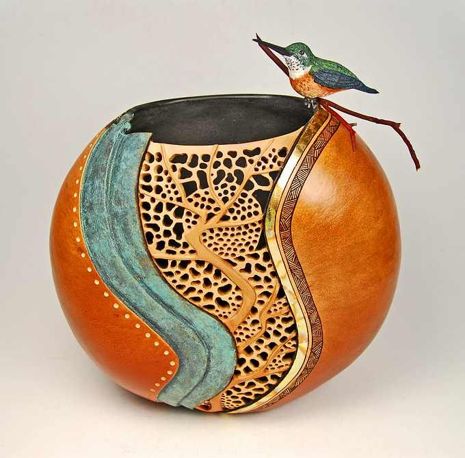 17 best images about gourd art on pinterest red cloud for Gourd carving patterns