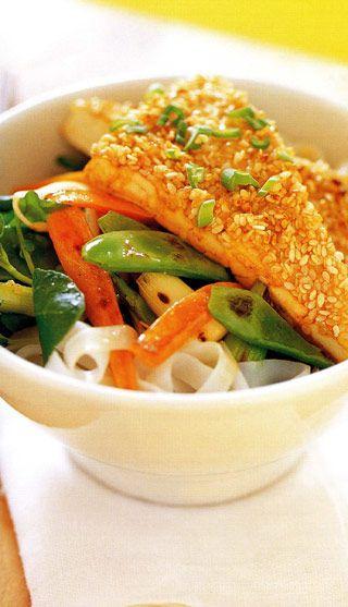 Sauté thaï au sésame et au tofu