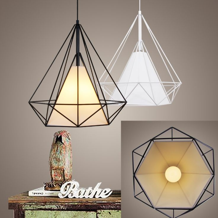 104.00$  Buy now - http://alirar.worldwells.pw/go.php?t=32650868012 - Birdcage pendant lights Scandinavian modern minimalist pyramid light iron light with LED bulb HM13 104.00$