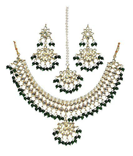 Ddivaa Ethnic Indian Bollywood Party Wear Green Alloy Metal Kundan Jewellery Necklace Set Ddivaa, http://www.amazon.com/dp/B0732RGGZV/ref=cm_sw_r_pi_dp_x_OJIuzbTYVBWGJ