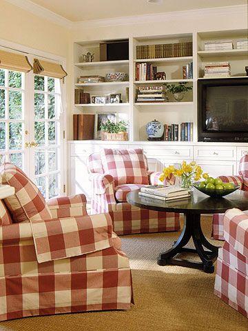 124 Best Home Decor Gingham Images On Pinterest