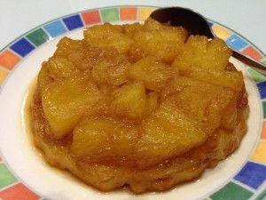 Tarte tatin à l'ananas frais - Papa en Cuisine