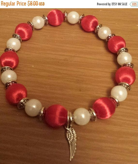 Detroit Red Wings Hockey  inspired bracelet by THEACCESSORIEDOLL