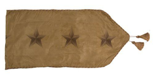 HiEnd Accents Luxury Star Runner by HiEnd Accents. $41.99. Impeccable Quality. Affordable Price. Immaculate Design. The Luxury Star table runner consists of tan faux leather featuring a row of printed stars along with a decorative cording edge makes this truly the vocal point to any table.
