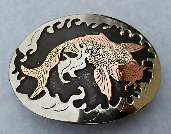Hey, I found this really awesome Etsy listing at https://www.etsy.com/listing/200154875/koi-fish-belt-buckle-asian-carp-buckle