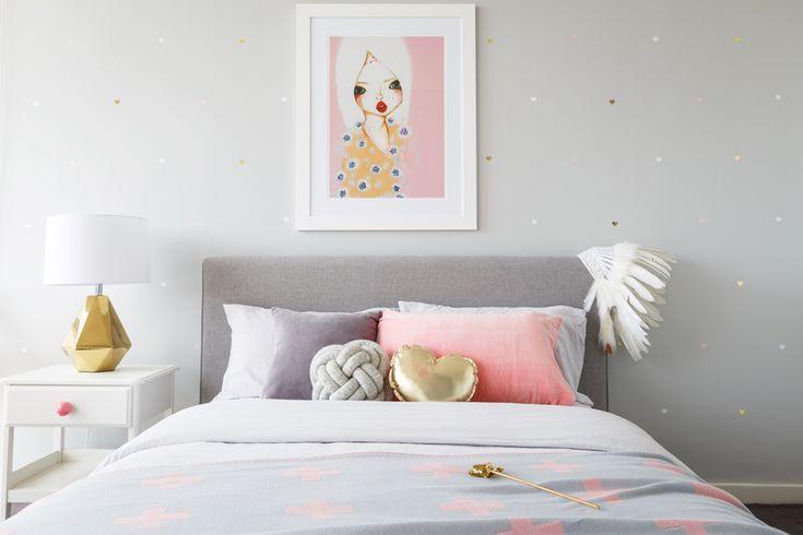 #mintymagazine Pink Grey Bedroom