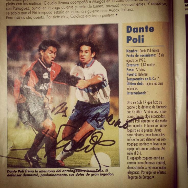 Autografo Dante Poli. #LosCruzados