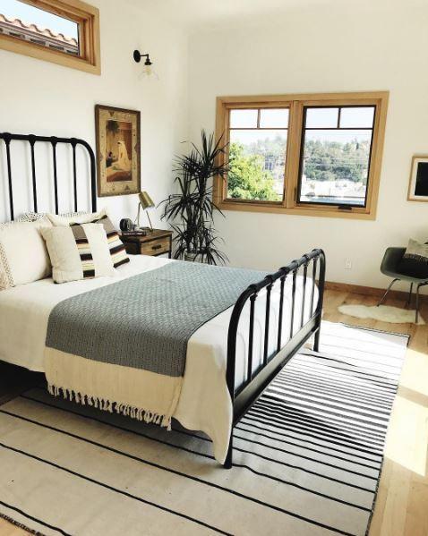 knox queen metal panel bed