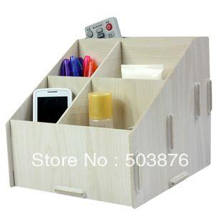 Moda diy lã rack de armazenamento de desktop caixa de armazenamento de controle remoto grande multicelular em Ciaxas de armazenamento & lixo de Casa & jardim no AliExpress.com | Alibaba Group