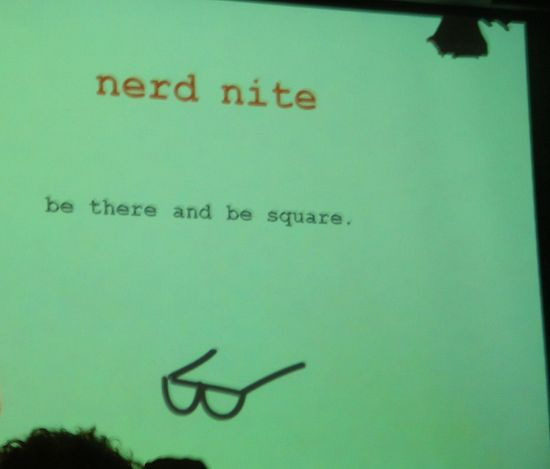THE NERDS ARE COMING! Nerd Nite Global Festival, Aug. 16-18, 2013, at the Brooklyn Lyceum!