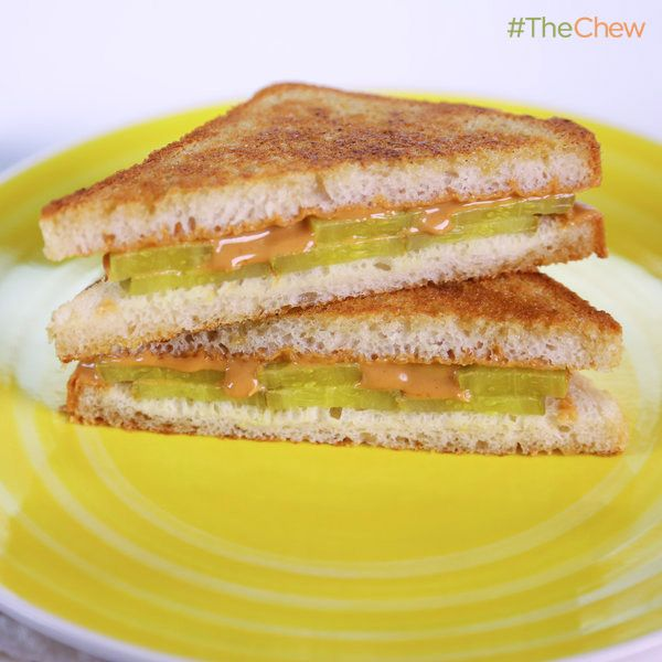 Michael Symon's Peanut Butter Pickle Sandwich #TheChew