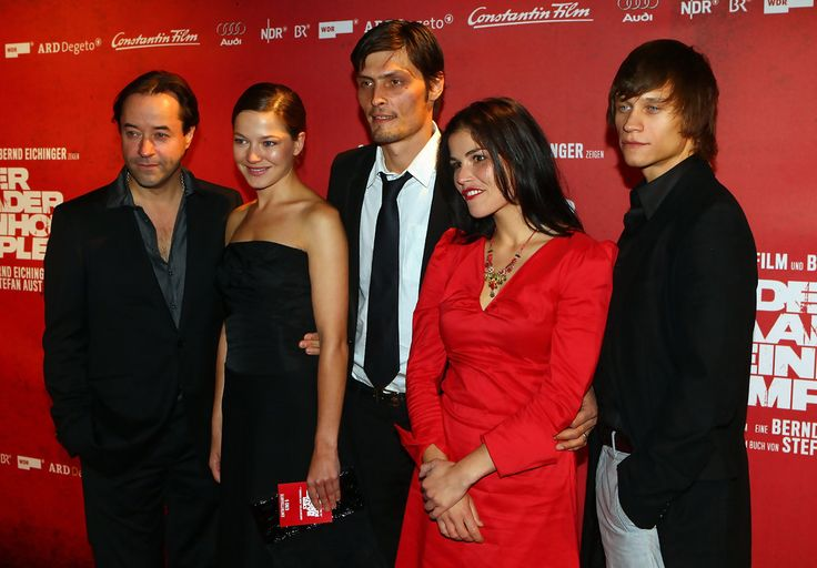 (L-R) Jan Josef Liefers, Hannah Herzsprung, Eric Stipe, Katharina Wackernagel and Vincent Kiefer attend the 'The Baader Meinhof Complex' German Premiere at Mathaeser Cinema on September 16, 2008 in Munich, Germany. The movie is based on Stefan Aust's nonfiction book telling the story of The Red Army Faction (RAF). The german terrorist group organized bombings, kidnappings and murder in the late 1960s and 70s.