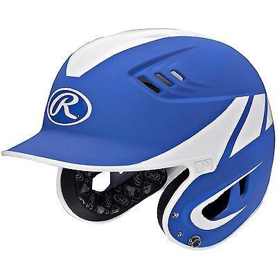 Rawlings Velo Series Junior 2-Tone Away Batting Helmet-Blue R16A2J-MR/W
