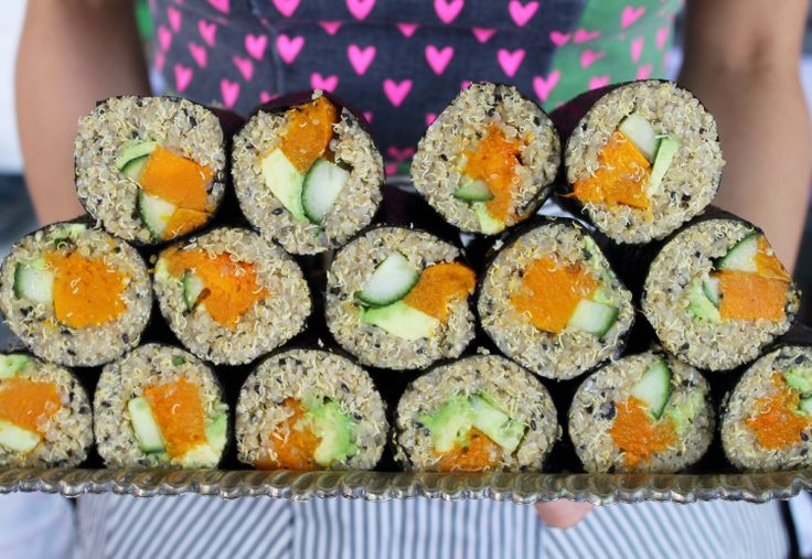 Vegetarian quinoa sushi recipe up now on the blog! www.ontheburrow.com