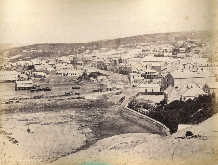 Dunedin from Bell Hill 1863