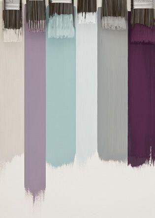 Light Lavender On Bath Walls, Light Grey On Bedroom And Closet Walls, Dark  Grey