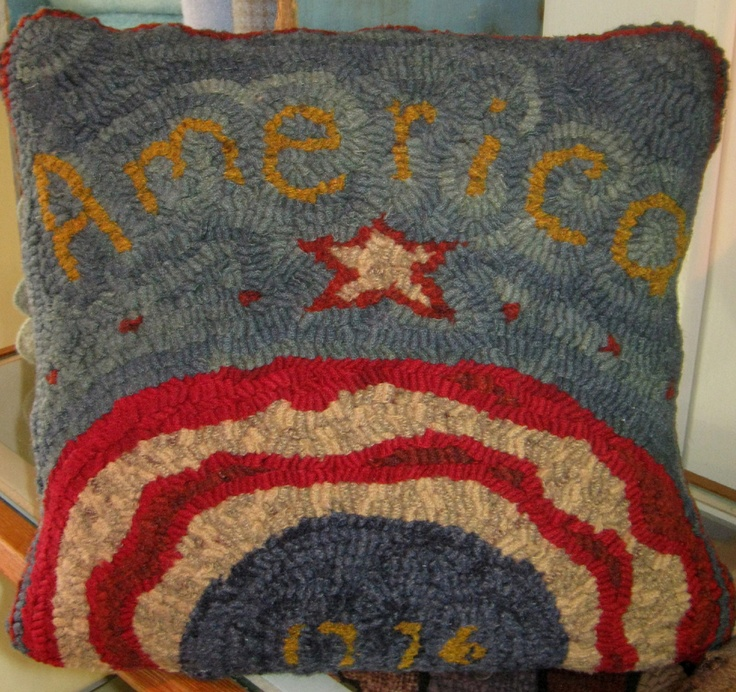 81 Best Patriotic - Hooked Rugs Images On Pinterest