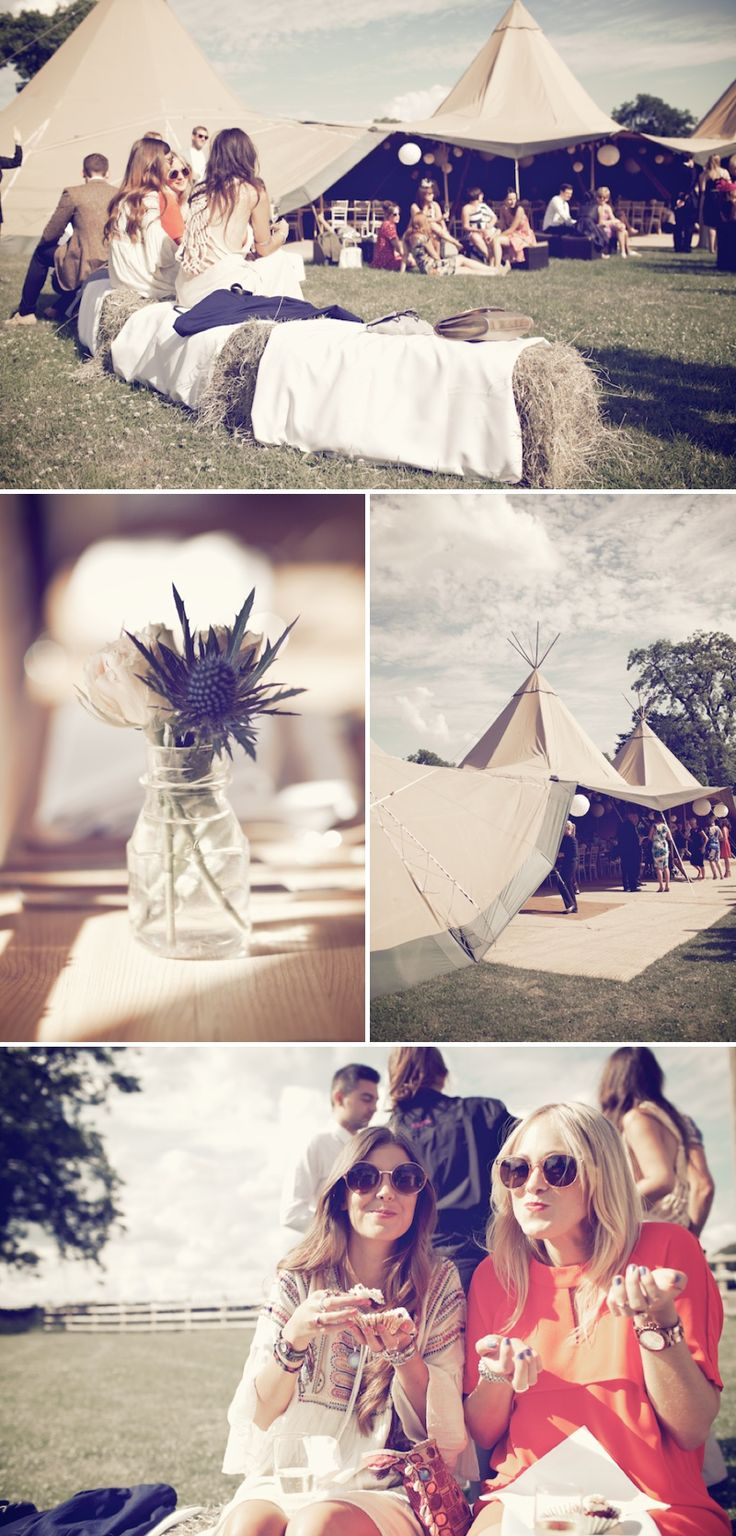 An Ethereal Bohemian Inspired Wedding At Standlow Farm With Tipis From Papakata A David Fielden Dress And Juliet Cap Veil With A Sweet Avala...