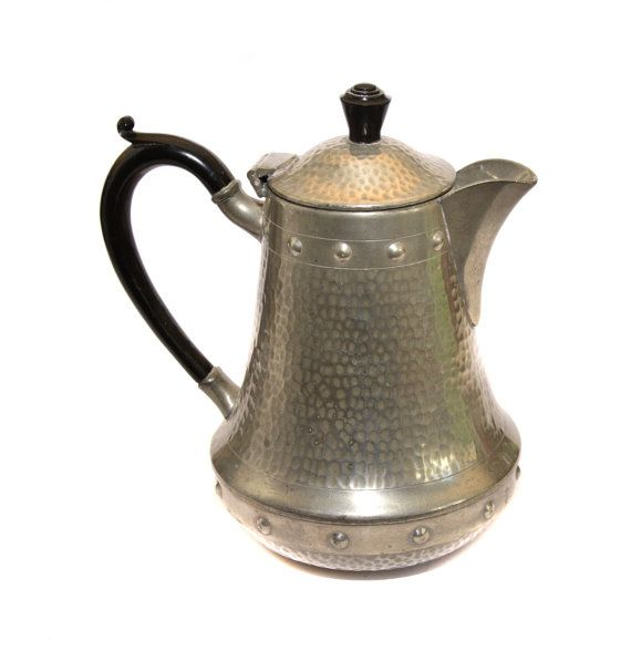 Craftsman English Hammered Pewter Teapot by BiminiCricket on Etsy