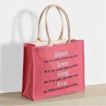 Roseate Zora Jute Shopping Bag- 603