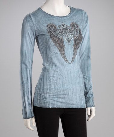Another great find on #zulily! Blue Lava Tie-Dye Winged Fleur-de-Lis Tattoo Tee by CottyOn #zulilyfinds