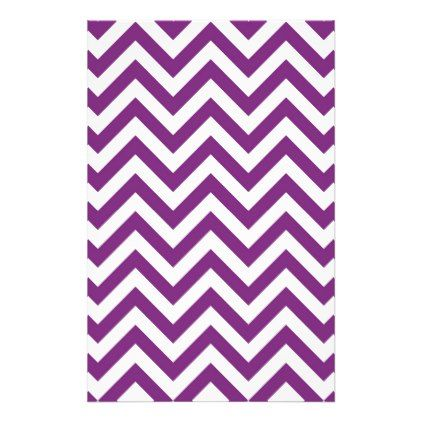 Purple Chevron Pattern Stationery - stripes gifts cyo unique style