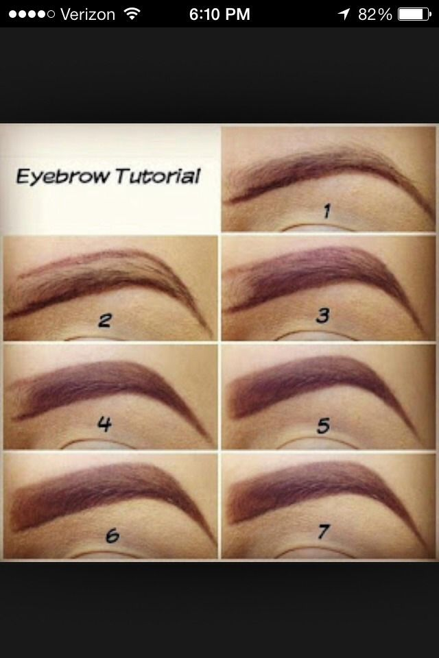 How To Draw On Your Eye Brows Or Fill Them In The Right ...