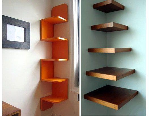 17 mejores ideas sobre repisas de madera imagenes en - Esquineros para pared ...