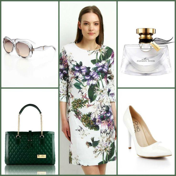 Nisan'ın ilk hafta sonunda, bu sezonun trendi floral ve öne çıkan rengi yeşille harika bir kombin yapabilirsiniz!  #moda #markafoni #stil #editorunsecimi #sokakstili #parfum #dress #editorspick #fashion #shoes #streetstyle #accessoriesoftheday