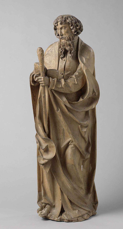 L'apôtre Jude Thaddée, anonyme, Autiche, v. 1515  Tilleul, h 152CM.