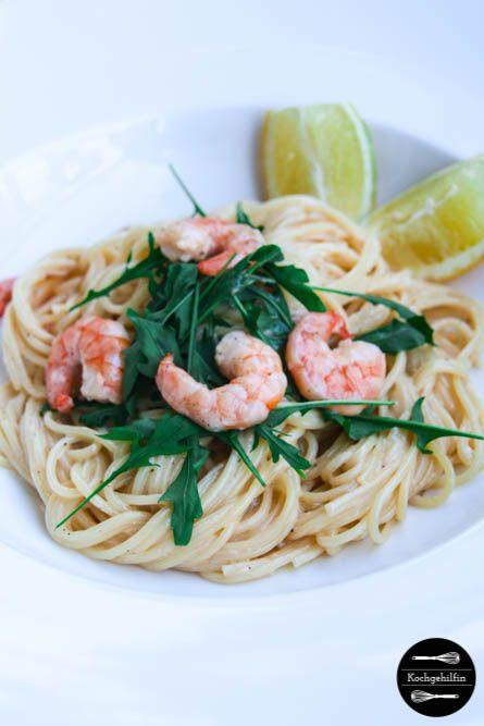 Gourmet Pasta: Zitronen Spaghetti mit Garnelen | Kochgehilfin